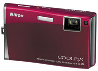 Nikon Coolpix S60 vínový