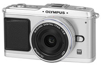 Olympus E-P1 stříbrný Pancake Kit