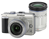 Olympus E-PL1 zlatý + 14-42 mm + 40-150 mm
