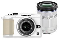 Olympus E-PL2 bílý + 14-42 mm II + 40-150 mm