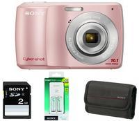 Sony CyberShot DSC-S3000 růžový + nabíječka + baterie + 2GB karta + pouzdro zdarma!