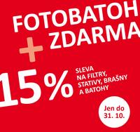 Fotobatoh zdarma, slevy 15 % na příslušenství a další dárky. Jen do 31. 10.