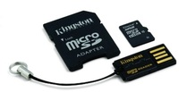 Kingston 32GB micro SD + SD adaptér + microSD čtečka Gen2 class 10