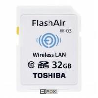 Toshiba SDHC 32GB FlashAir Wi-Fi Wireless Class 10