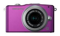 Olympus E-PM1 + 14-42 mm II R fialový + 8GB karta + brašna Adria 90 + poutko na ruku!