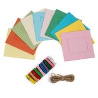 """Polaroid Rámeček čtvercový na instantní fotografie 2x3""""barevný mix"""