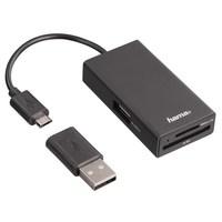 Hama OTG HUB USB 2.0 a čtečka pro SD a Micro SD