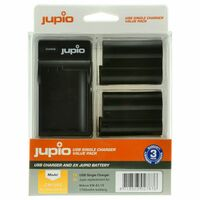 Jupio Kit 2x EN-EL15 + USB Dual Charger pro Nikon