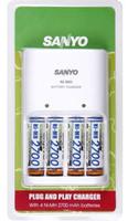 Sanyo nabíječka MQN04 + 4x AA 2700 mAh