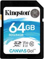 Kingston SDXC 64GB Canvas Go Class 10 UHS-I U3 V30