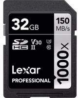 Lexar SDHC 32GB 1000x Professional Class 10 UHS-II U3