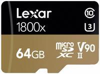 Lexar microSDXC 64GB 1800x Professional Class 10 UHS-II U3 (V90)