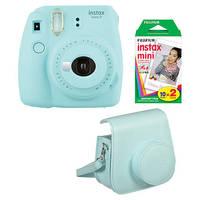 Fujifilm Instax mini 9 ledově modrý film case kit