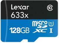 Lexar Micro SD (SDXC 633x Class 10 UHS-1) 128GB karta + SD adaptér