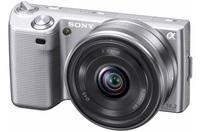 Sony NEX-5 stříbrný + 16 mm