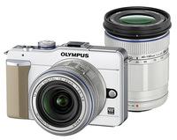 Olympus E-PL1 bílý + 14-42 mm + 40-150 mm
