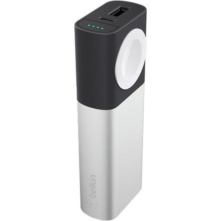 Belkin MIXIT PowerPack 6700 mAh pro Apple Watch + USB, stříbrná