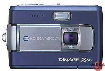 Konica Minolta DiMAGE X60 modrá + pouzdro + řetízek zdarma!!!