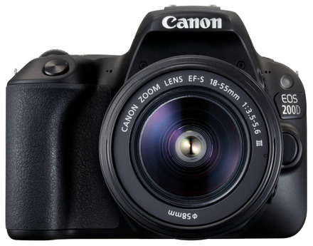 Canon EOS 200D + 18-55 mm DC III + 75-300 mm DC III černý