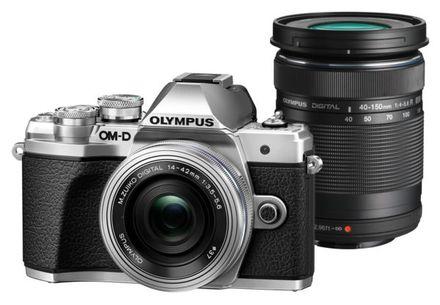Olympus OM-D E-M10 Mark III + 14-42 mm EZ + 40-150 mm R stříbrný - Foto kit