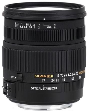 Sigma 17-70mm f/2,8-4,0 DC Macro OS HSM pro Nikon