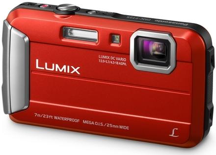 Panasonic Lumix DMC-FT25 červený + 8GB karta + neoprenové pouzdro + mini stativ + poutko!