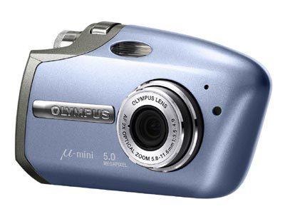 Olympus Mju MINI Digital S modrý