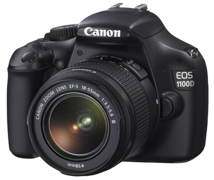 Canon EOS 1100D + 18-55 mm IS II + 8GB karta + brašna + filtr UV 58mm!
