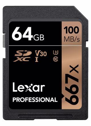 Lexar SDXC 64GB 667x Professional Class 10 UHS-I U3 (V30)