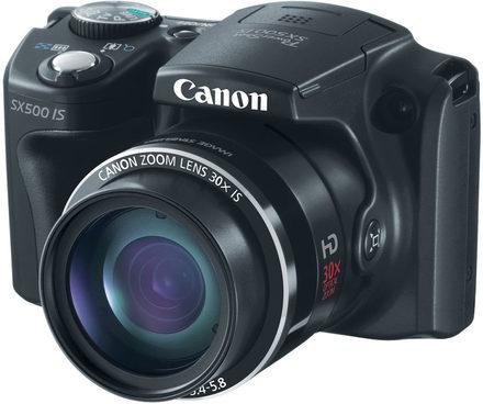 Canon PowerShot SX500 IS černý + 16GB karta + brašna Pack 80 + čistící utěrka!
