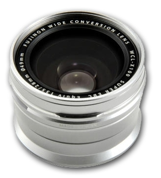 Fujifilm širokoúhlá předsádka WCL pro X100, X100S, X100T černá stříbrná