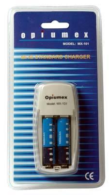 Opiumex nabíječka MX-101 + 2x AA 1800 mAh