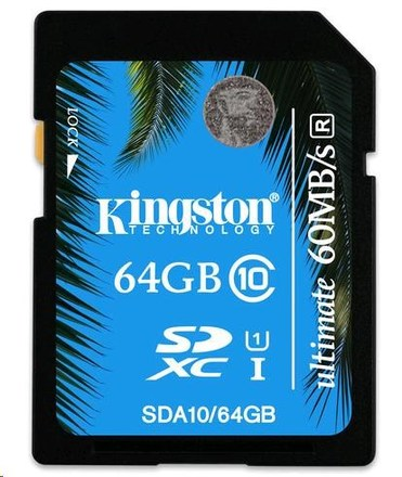 Kingston SDXC 64GB Ultimate Memory Class 10 UHS-I