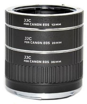 JJC sada mezikroužků 12mm/20mm/36mm pro Canon