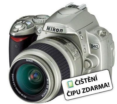 Nikon D40 stříbrný + AF-S 18-55 mm f/3,5-5,6G ED II