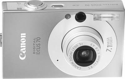 Canon IXUS 70 stříbrný + SD 2GB karta