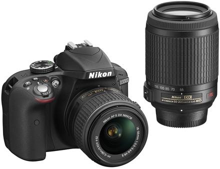 Nikon D3300 + 18-55 mm VR II + 55-200 mm VR