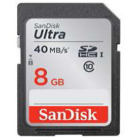 SanDisk SDHC 8GB Ultra 40MB/s Class 10 UHS-I