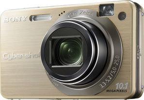 Sony DSC-W170 zlatý