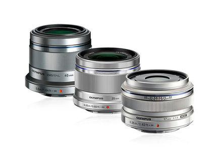 Olympus Compact lens kit stříbrný