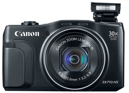 Canon PowerShot SX710 HS černý+ 8GB karta + originální pouzdro + čistící utěrka!