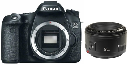 Canon EOS 70D + 50 mm Set pro ČB fotografii