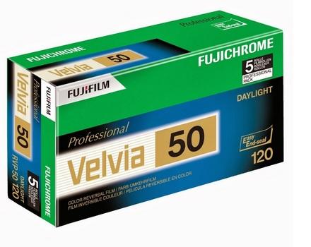 Fujifilm 120 Velvia 50 EP EC NP 12EX 5ks
