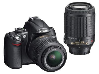Nikon D5000 + 18-55 mm II + 55-200 mm