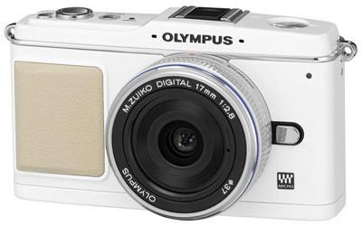Olympus E-P1 bílý Pancake Kit