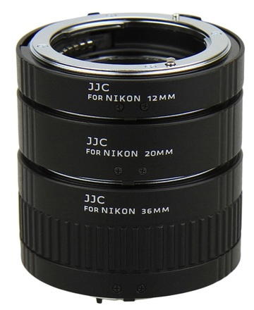 JJC sada mezikroužků 12mm/20mm/36mm pro Nikon