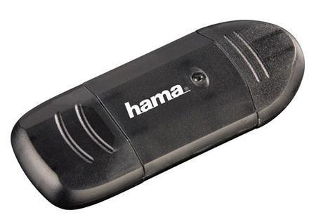 Hama čtečka karet USB 2.0 SD/MMC černá