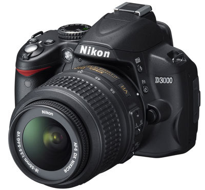 Nikon D3000 + 18-55 mm VR + 55-200 mm VR