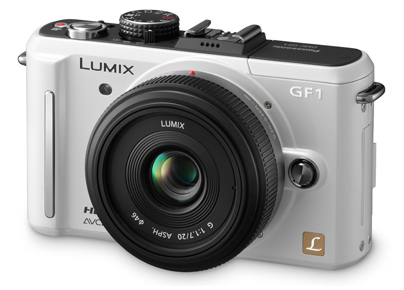Panasonic Lumix DMC-GF1 bílý + G Vario 20 mm