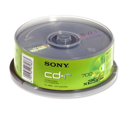 Sony CD-R 700MB 25ks